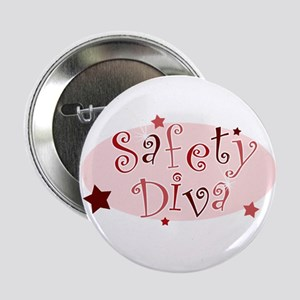 """""""Safety Diva"""" [red] 2.25"""" Button"""